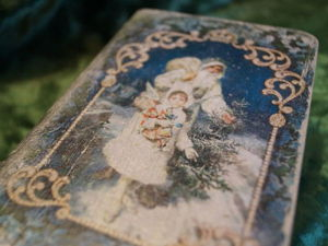 Декорируем шкатулку-книгу «В ожидании Рождества». Ярмарка Мастеров - ручная работа, handmade.
