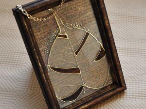 Декорируем стекло-панно «Лист». Ярмарка Мастеров - ручная работа, handmade.