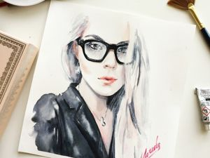 How to Paint a Fashion Portrait with Watercolor. Livemaster - hecho a mano - handmade.