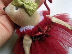 Елочная мышка в бордовом. Ярмарка Мастеров - ручная работа, handmade.
