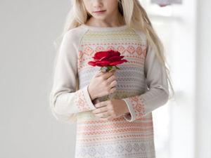 Аукцион на вязаное детское платьице! Старт 1300 руб.!!. Ярмарка Мастеров - ручная работа, handmade.