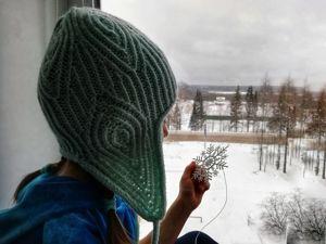 Вяжем шапку для девочки. Ярмарка Мастеров - ручная работа, handmade.