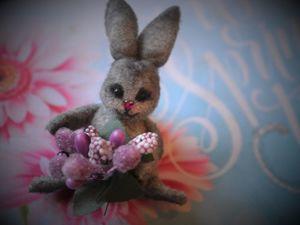 Пасхальные брошки-зайчики. Ярмарка Мастеров - ручная работа, handmade.