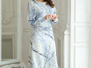 Аукцион на Атмосферное женственное платье! Старт 3000 р.!. Ярмарка Мастеров - ручная работа, handmade.