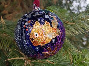 Видео по елочному шару  «Море». Ярмарка Мастеров - ручная работа, handmade.