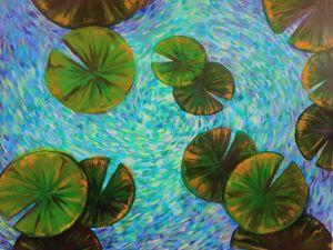 Солнечный водоворот — картина. Ярмарка Мастеров - ручная работа, handmade.