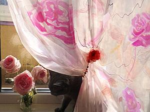 Ручная роспись штор. Ярмарка Мастеров - ручная работа, handmade.