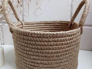 Для чего нужна корзина из джута?. Ярмарка Мастеров - ручная работа, handmade.