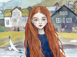 Ее героини живут на ветвях и читают сказки совам, но любая современная девушка узнает в них себя: добрые иллюстрации Анны Спешиловой. Ярмарка Мастеров - ручная работа, handmade.