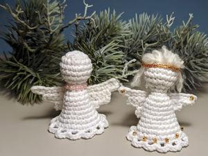 Вяжем простого ангела крючком. Ярмарка Мастеров - ручная работа, handmade.