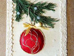 Новогодняя текстильная открытка. Ярмарка Мастеров - ручная работа, handmade.