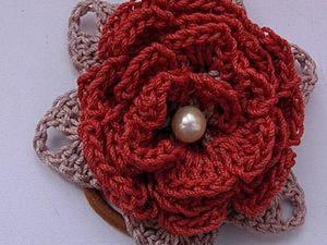 Украшаем резинку для волос вязаным цветком. Ярмарка Мастеров - ручная работа, handmade.