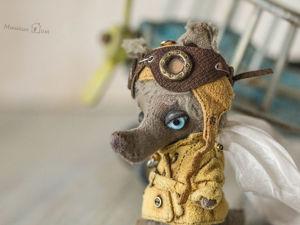 Волчонок Вальтер и его самолёт. Ярмарка Мастеров - ручная работа, handmade.
