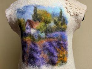 Мастер-класс по живописи шерстью «Лавандовое поле». Ярмарка Мастеров - ручная работа, handmade.