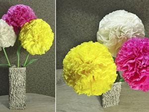Делаем цветы из салфеток: видео мастер-класс. Ярмарка Мастеров - ручная работа, handmade.