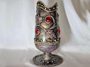 Как сделать необычную вазу из пластиковой бутылки: видеоурок. Ярмарка Мастеров - ручная работа, handmade.