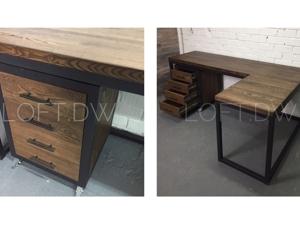Угловой рабочий стол из ясеня. Ярмарка Мастеров - ручная работа, handmade.
