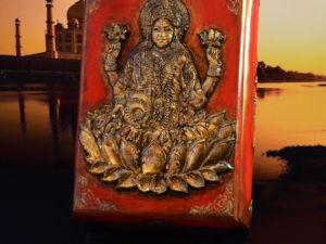 Шкатулка Богиня Лакшми. Привлечение денег. Ярмарка Мастеров - ручная работа, handmade.