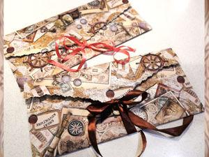 Делаем подарочный конверт нестандартных размеров. Ярмарка Мастеров - ручная работа, handmade.