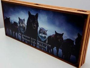 Новинка!!! Нарды интерактивные  «Wolf». Ярмарка Мастеров - ручная работа, handmade.