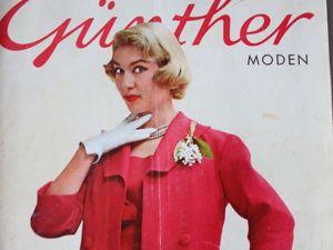 Gunther Moden -старый журнал мод- 3/ 1958. Ярмарка Мастеров - ручная работа, handmade.