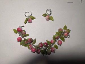 Собираем весенний комплект «Яблочки» из натуральных камней. Ярмарка Мастеров - ручная работа, handmade.