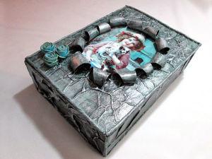 Винтажная шкатулка из картонной коробки: видео мастер-класс. Ярмарка Мастеров - ручная работа, handmade.