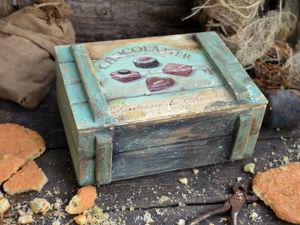 Декорирование деревянного ящика «Chocolatier». Лессировка. Часть 2. Ярмарка Мастеров - ручная работа, handmade.