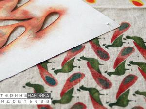 Масляная набойка по трафаретам: история рукодельной техники. Ярмарка Мастеров - ручная работа, handmade.