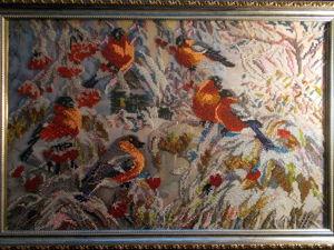 Картина Снегири. Ярмарка Мастеров - ручная работа, handmade.