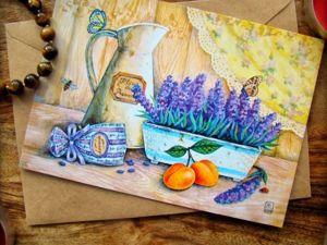 Комплект открыток Прованс. Ярмарка Мастеров - ручная работа, handmade.