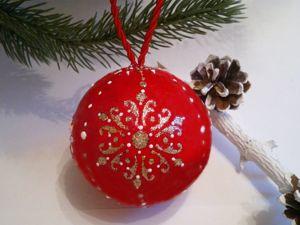 Мастерим ёлочный шар «Очарование» в технике папье-маше. Ярмарка Мастеров - ручная работа, handmade.