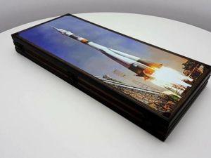 НОВИНКА!!! Эксклюзивные нарды  «Space»  (интерактивные). Ярмарка Мастеров - ручная работа, handmade.