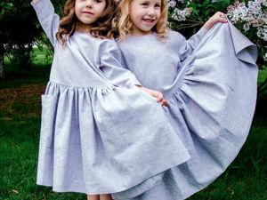 Шьем детское платье из льна. Ярмарка Мастеров - ручная работа, handmade.