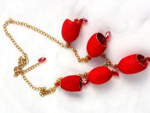 Розыгрыш ожерелья из шелковых коконов, ЗАВЕРШЕН. Ярмарка Мастеров - ручная работа, handmade.