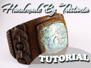 Видеоурок: «кожаный браслет» из полимерной глины. Ярмарка Мастеров - ручная работа, handmade.