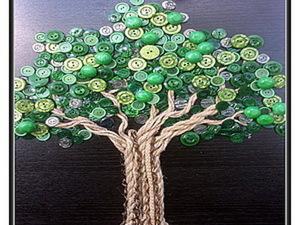 Создаем «Пуговичное дерево». Ярмарка Мастеров - ручная работа, handmade.