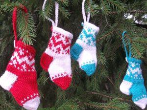 Скидка на носочек для Новогоднего интерьера 50%. Ярмарка Мастеров - ручная работа, handmade.