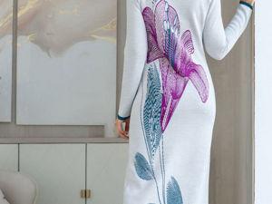 Аукцион на Эффектное вязаное платье! Старт 3000 р.!. Ярмарка Мастеров - ручная работа, handmade.