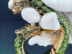 Изделие в виде золотого дракона — самая мощная защита. Ярмарка Мастеров - ручная работа, handmade.