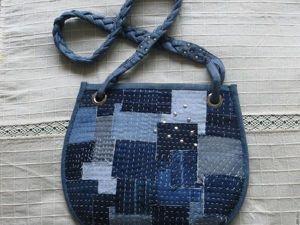 Шьем из джинсовой ткани сумочку в стиле «боро». Ярмарка Мастеров - ручная работа, handmade.