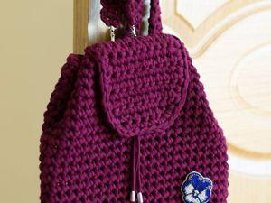 Создаем рюкзак из трикотажной пряжи крючком. Ярмарка Мастеров - ручная работа, handmade.
