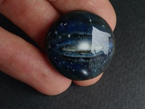 Кабошон  «Галактика Андромеда». Ярмарка Мастеров - ручная работа, handmade.