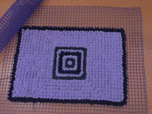 Как сделать коврик на садовой сетке. Ярмарка Мастеров - ручная работа, handmade.