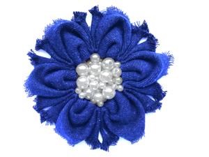 Мастерим цветок из джинсовой ткани. Ярмарка Мастеров - ручная работа, handmade.