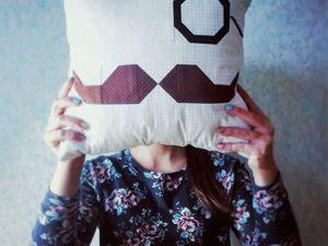 Шьем лоскутную подушку с моноклем и усами! Часть 1. Ярмарка Мастеров - ручная работа, handmade.