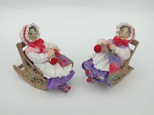 Ватная игрушка:Бабушка. Ярмарка Мастеров - ручная работа, handmade.
