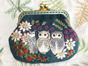 Cute Owlet Wallets: Adorable Embroidery from Japan. Livemaster - handmade