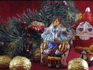 Роспись елочной игрушки Крысиный король витражными красками. Ярмарка Мастеров - ручная работа, handmade.