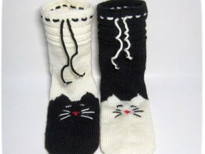 Вязание на 5 спицах: носки «Мурчащие» своими руками. Ярмарка Мастеров - ручная работа, handmade.